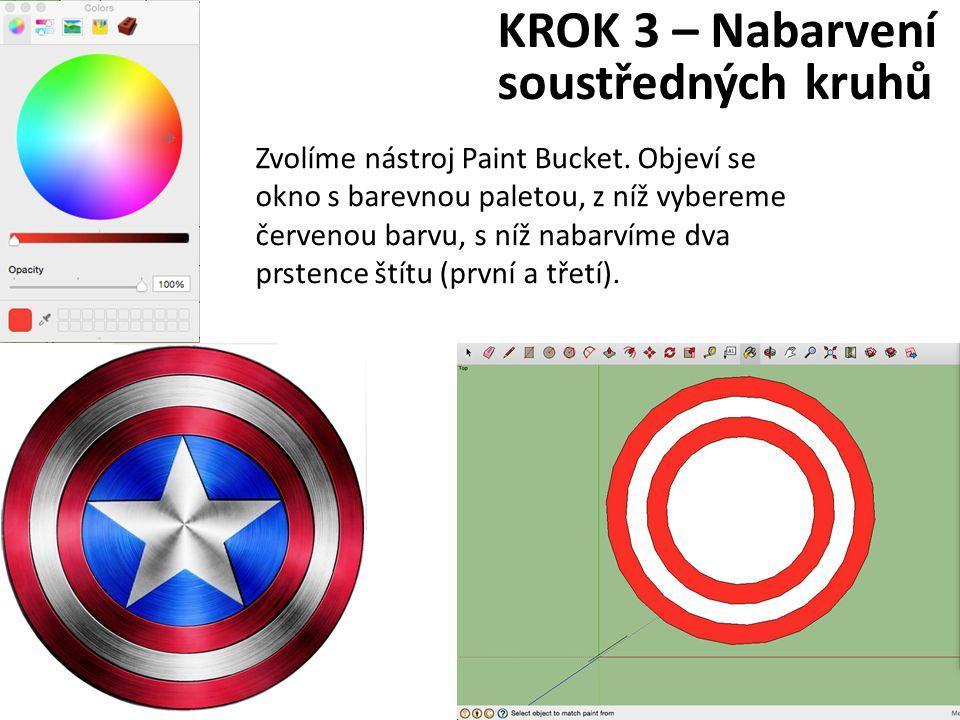 KROK 3 – Nabarvení soustředných kruhů