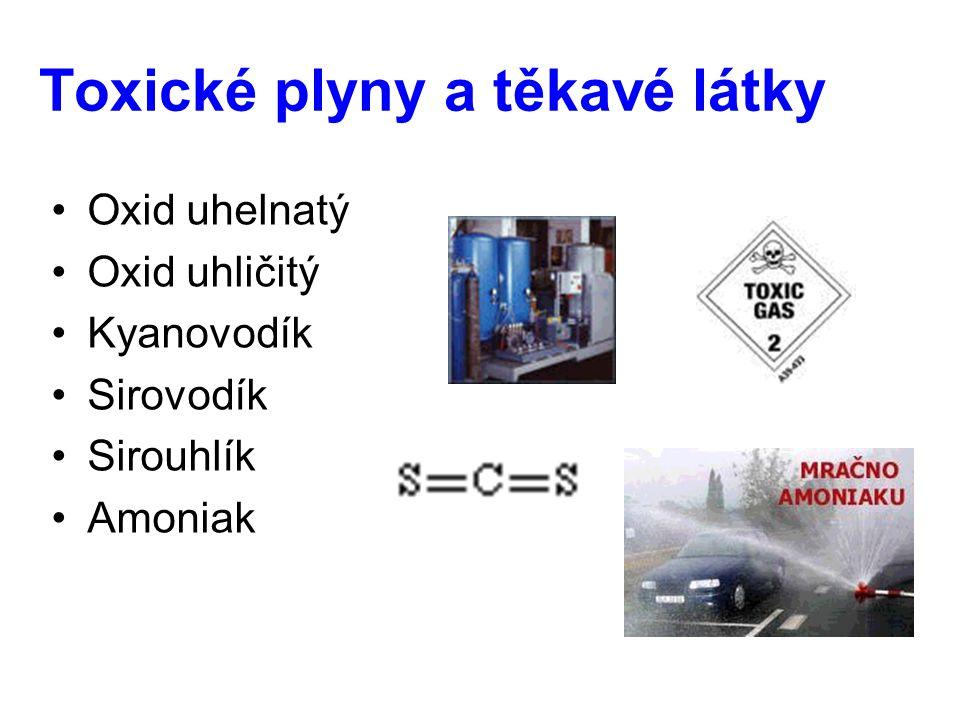 Toxické plyny a těkavé látky