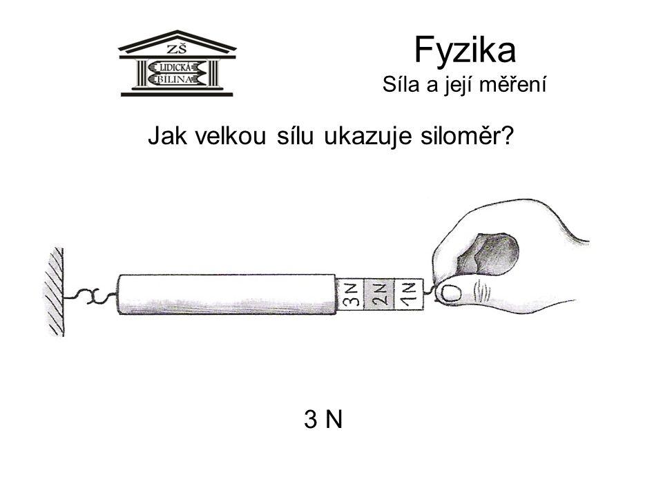 Fyzika Síla a její měření