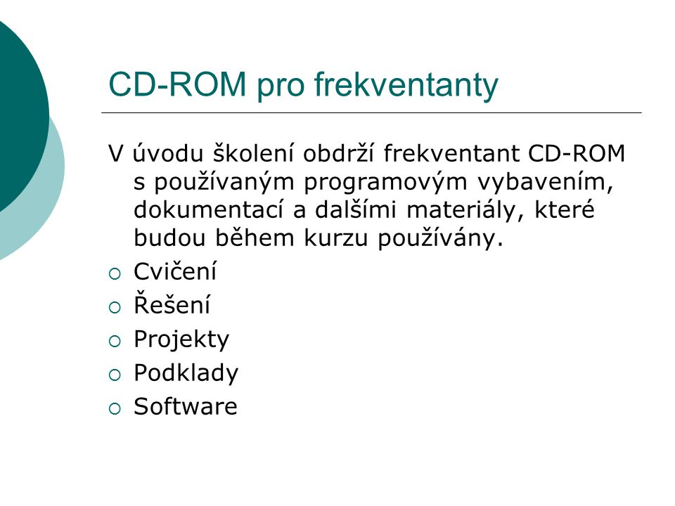 CD-ROM pro frekventanty