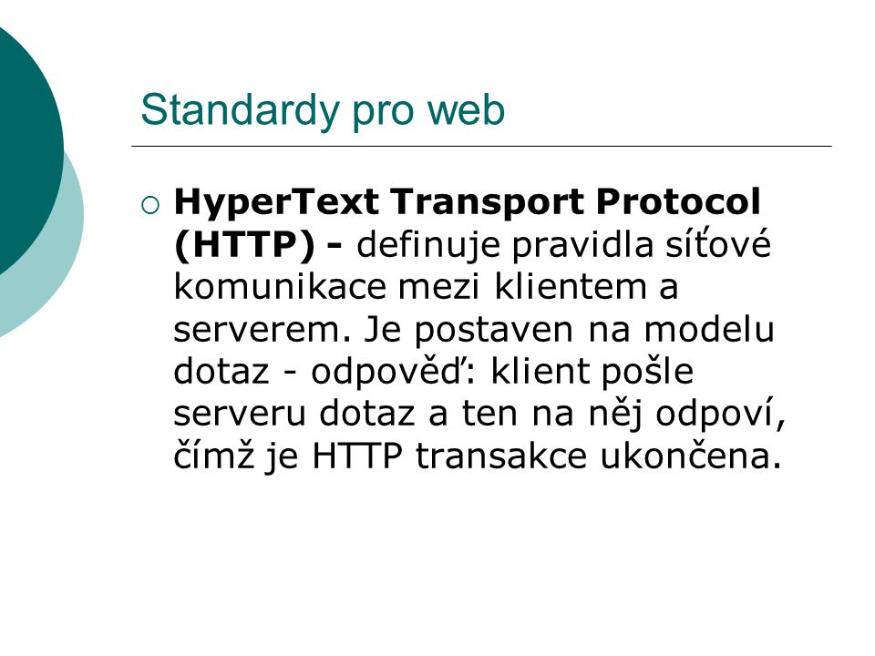 Standardy pro web