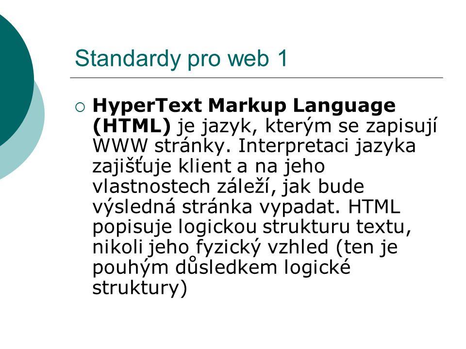Standardy pro web 1
