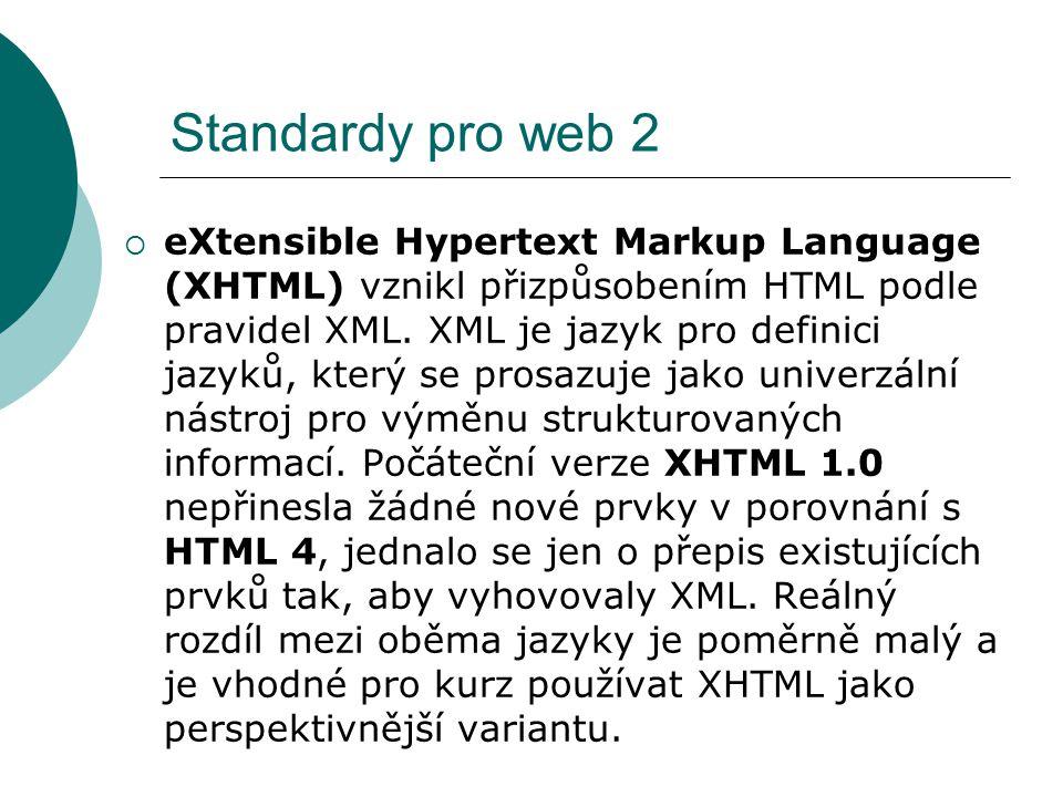 Standardy pro web 2