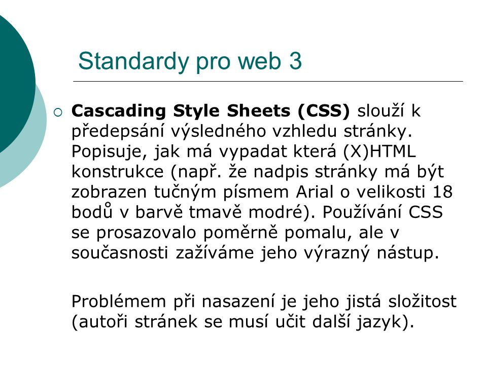 Standardy pro web 3