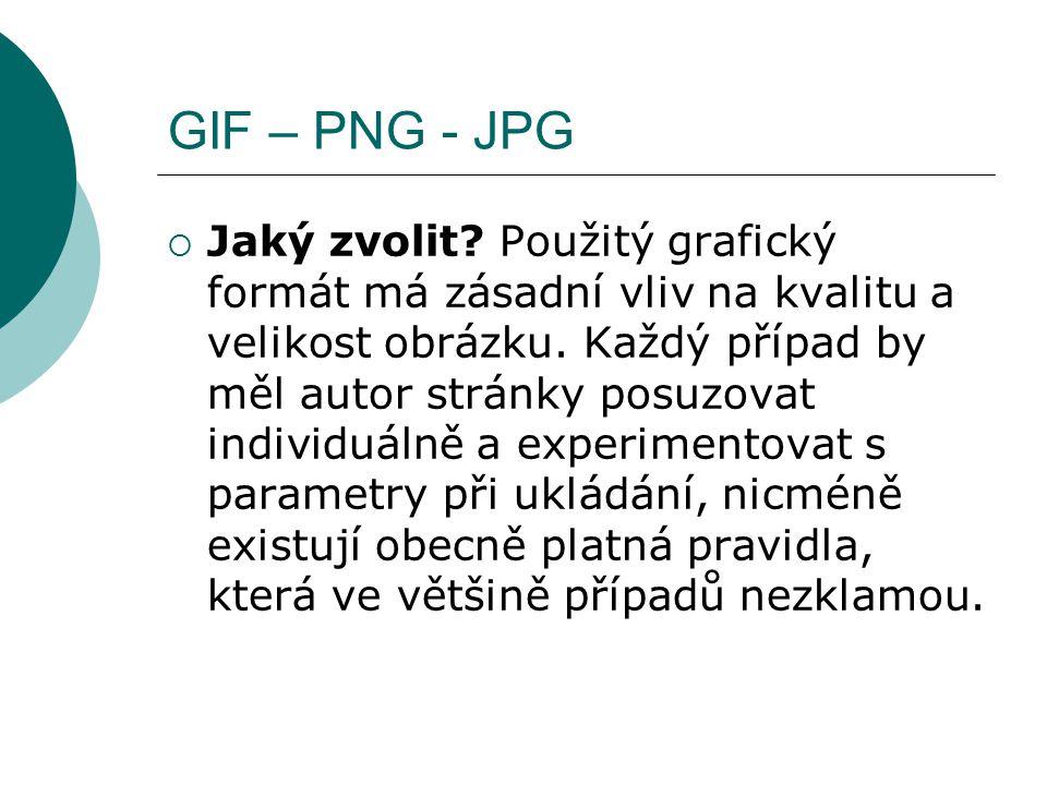 GIF – PNG - JPG
