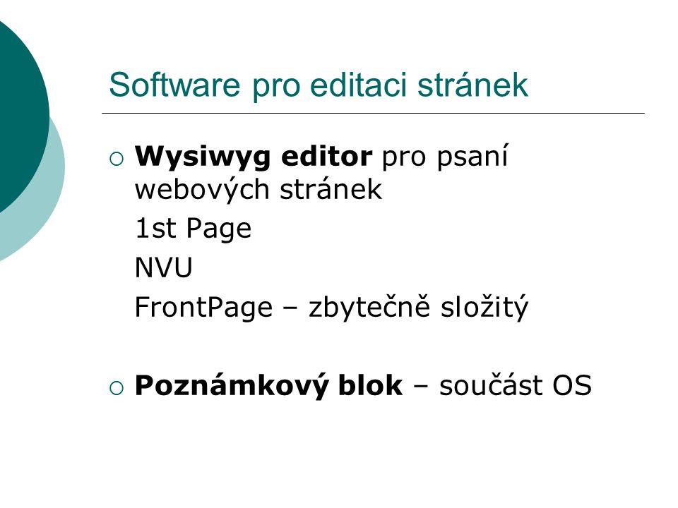 Software pro editaci stránek