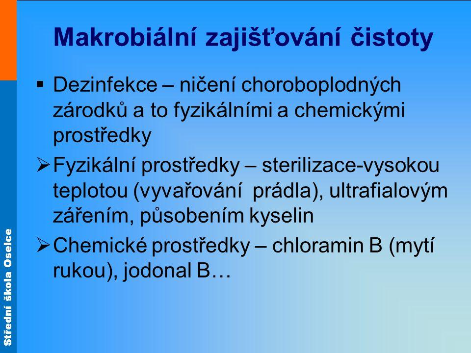 Makrobiální zajišťování čistoty