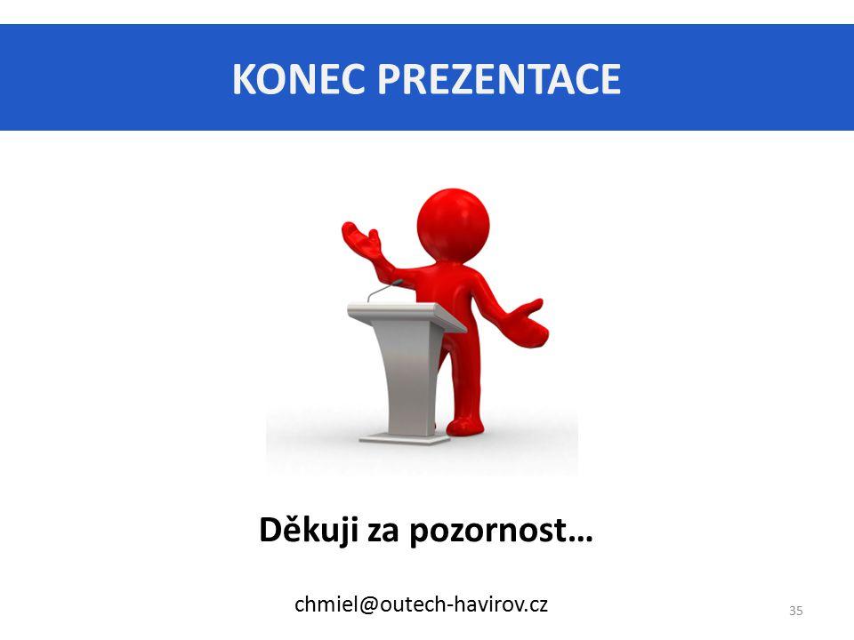 KONEC PREZENTACE Děkuji za pozornost… chmiel@outech-havirov.cz