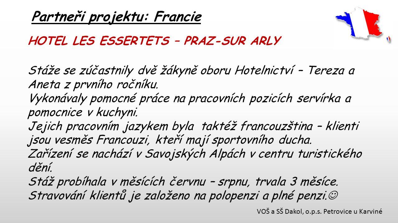 Partneři projektu: Francie