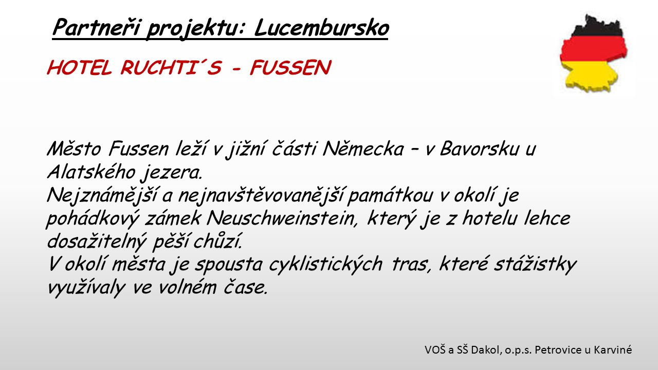 Partneři projektu: Lucembursko