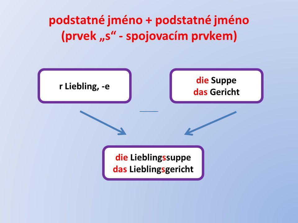 "podstatné jméno + podstatné jméno (prvek ""s - spojovacím prvkem)"