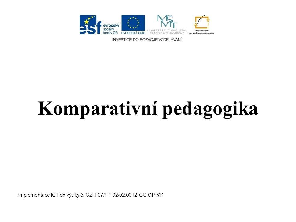 Komparativní pedagogika