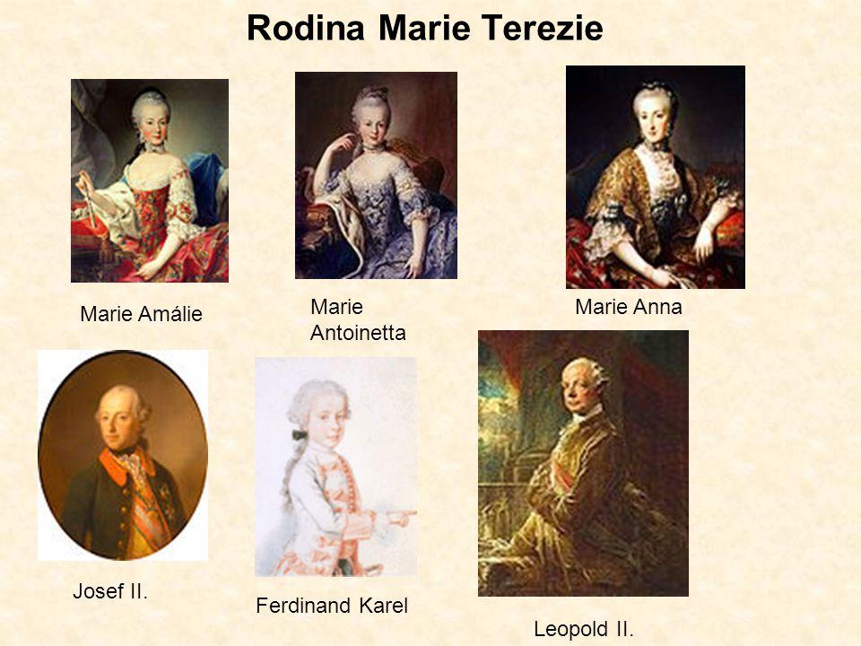 Rodina Marie Terezie Marie Antoinetta Marie Anna Marie Amálie