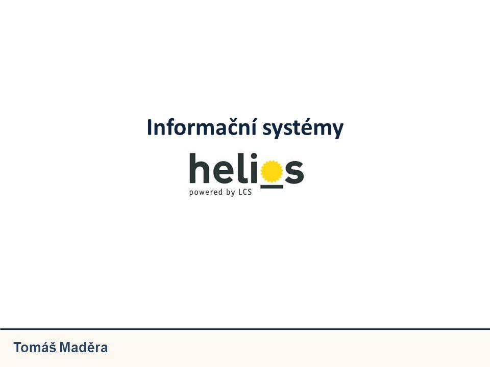 Informační systémy Tomáš Maděra