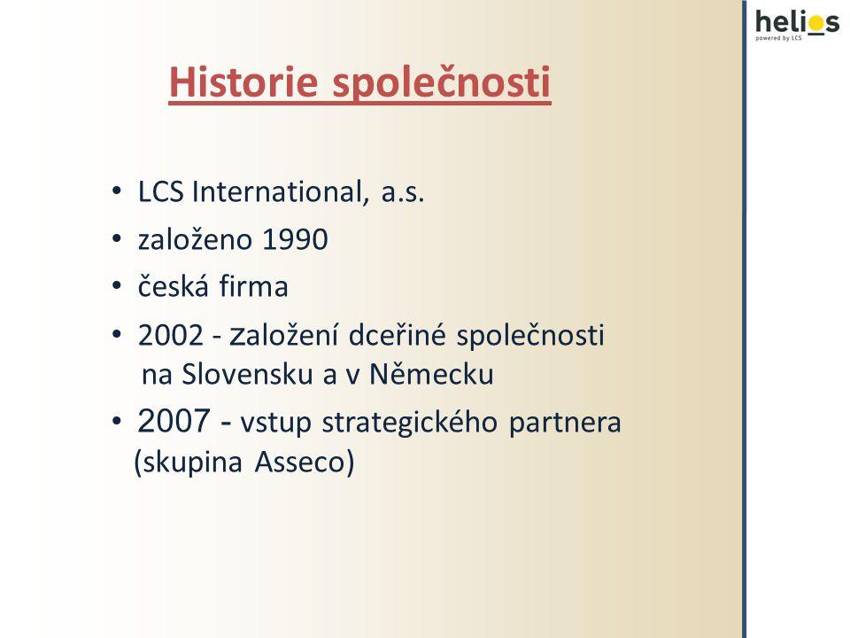 Historie společnosti LCS International, a.s. založeno 1990 česká firma