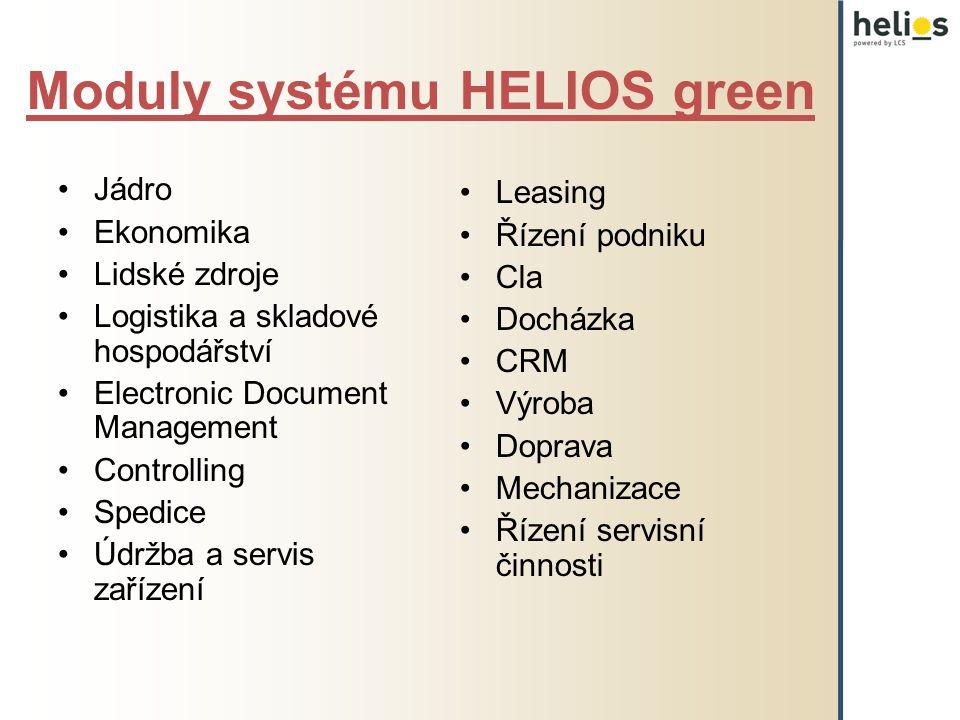 Moduly systému HELIOS green