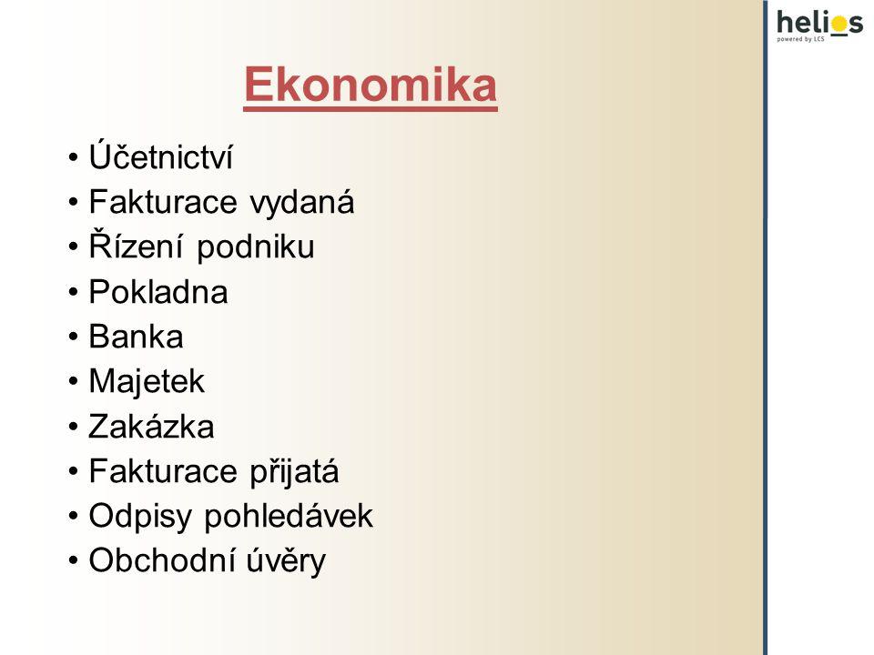 Ekonomika Účetnictví Fakturace vydaná Řízení podniku Pokladna Banka