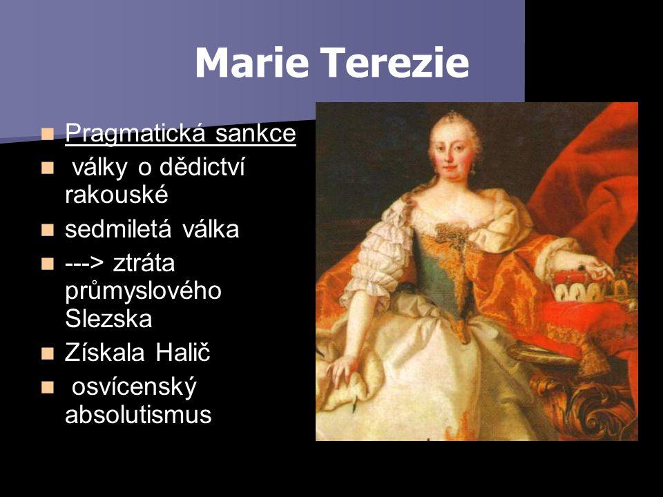 Marie Terezie Pragmatická sankce války o dědictví rakouské