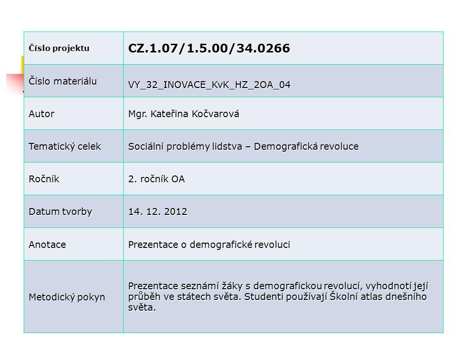 CZ.1.07/1.5.00/34.0266 Číslo materiálu VY_32_INOVACE_KvK_HZ_2OA_04
