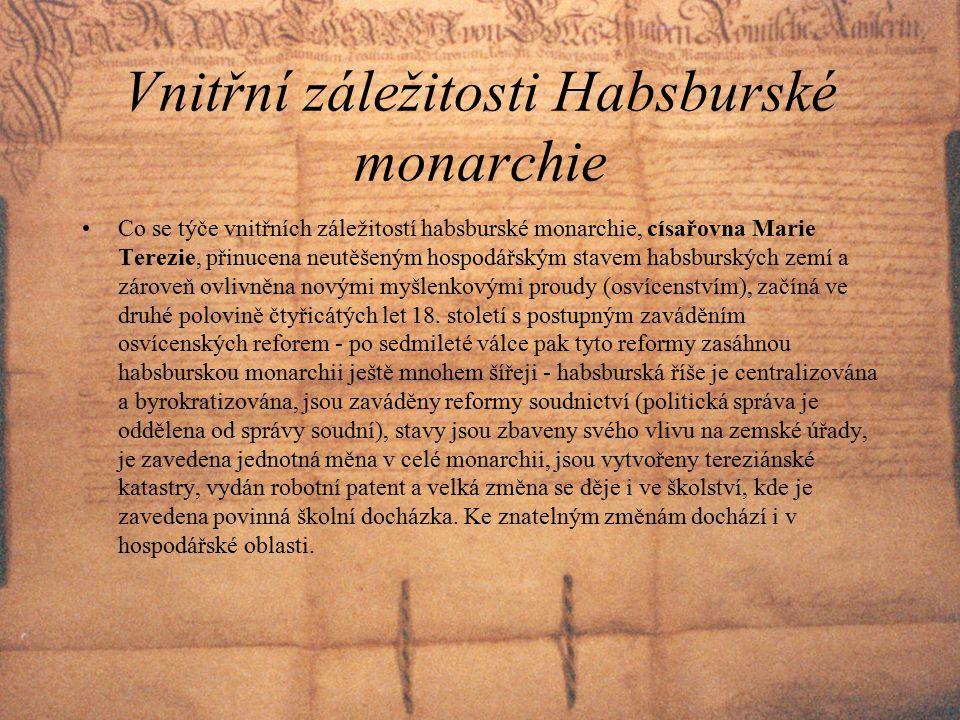 Vnitřní záležitosti Habsburské monarchie