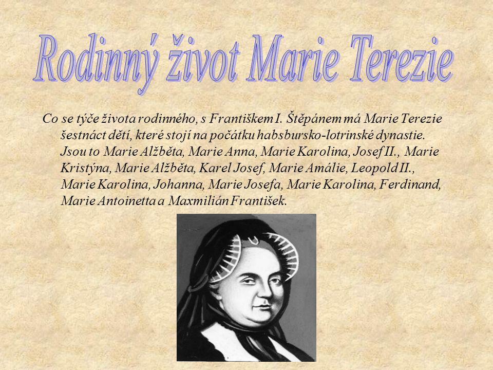 Rodinný život Marie Terezie