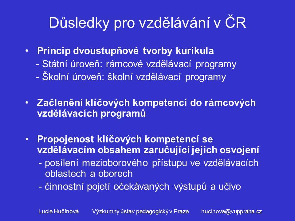 Důsledky pro vzdělávání v ČR