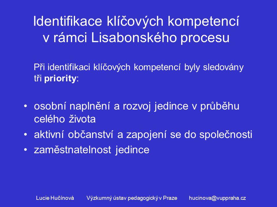 Identifikace klíčových kompetencí v rámci Lisabonského procesu