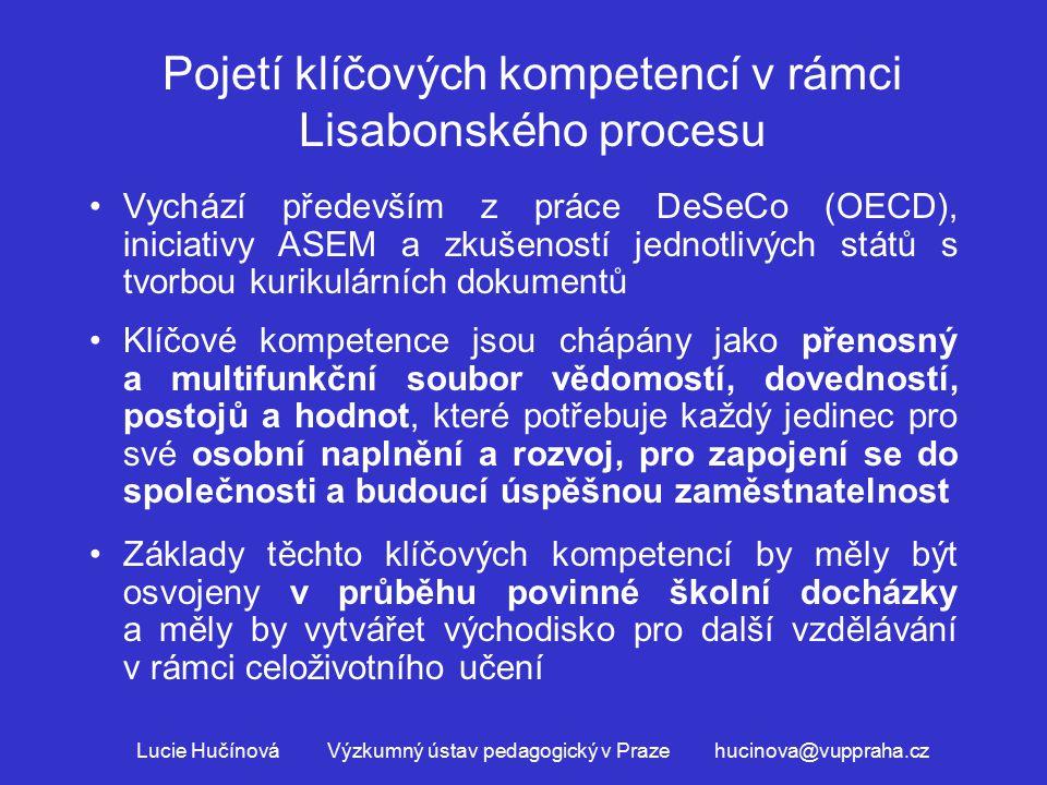 Pojetí klíčových kompetencí v rámci Lisabonského procesu