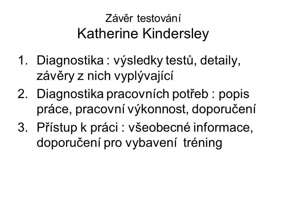 Závěr testování Katherine Kindersley