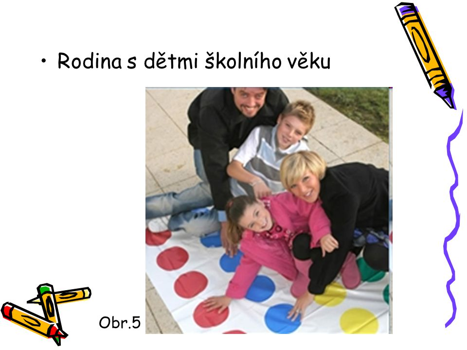 Rodina s dětmi školního věku