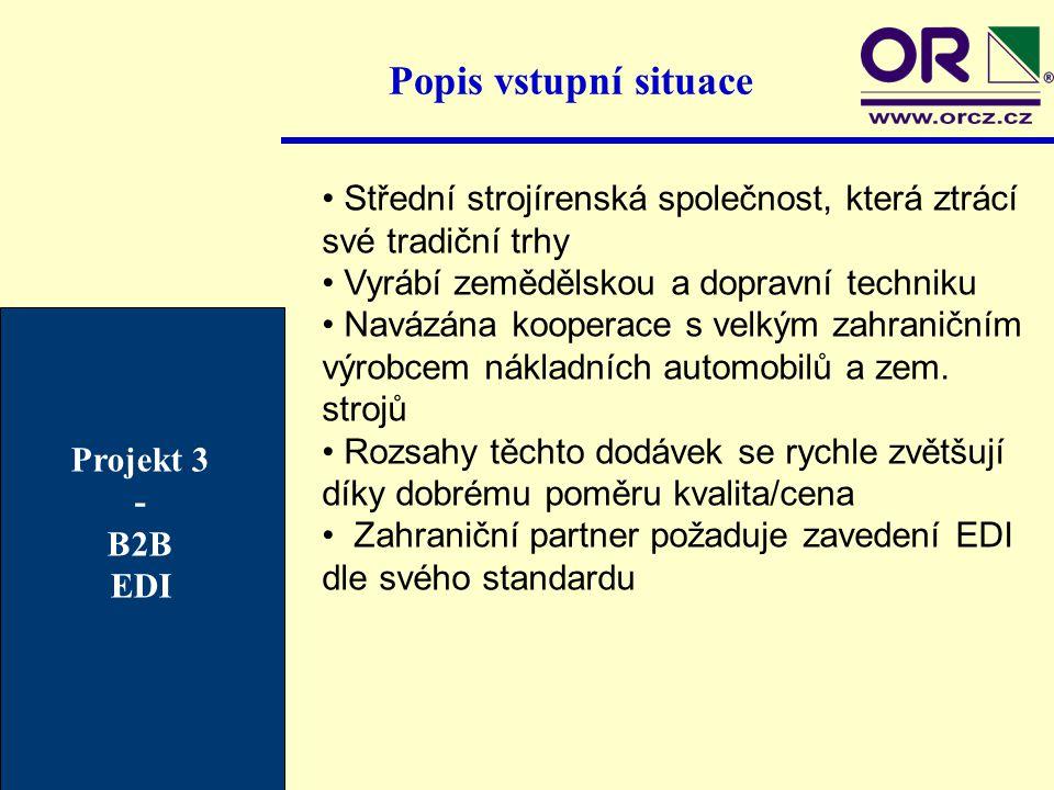 Popis vstupní situace Střední strojírenská společnost, která ztrácí své tradiční trhy. Vyrábí zemědělskou a dopravní techniku.