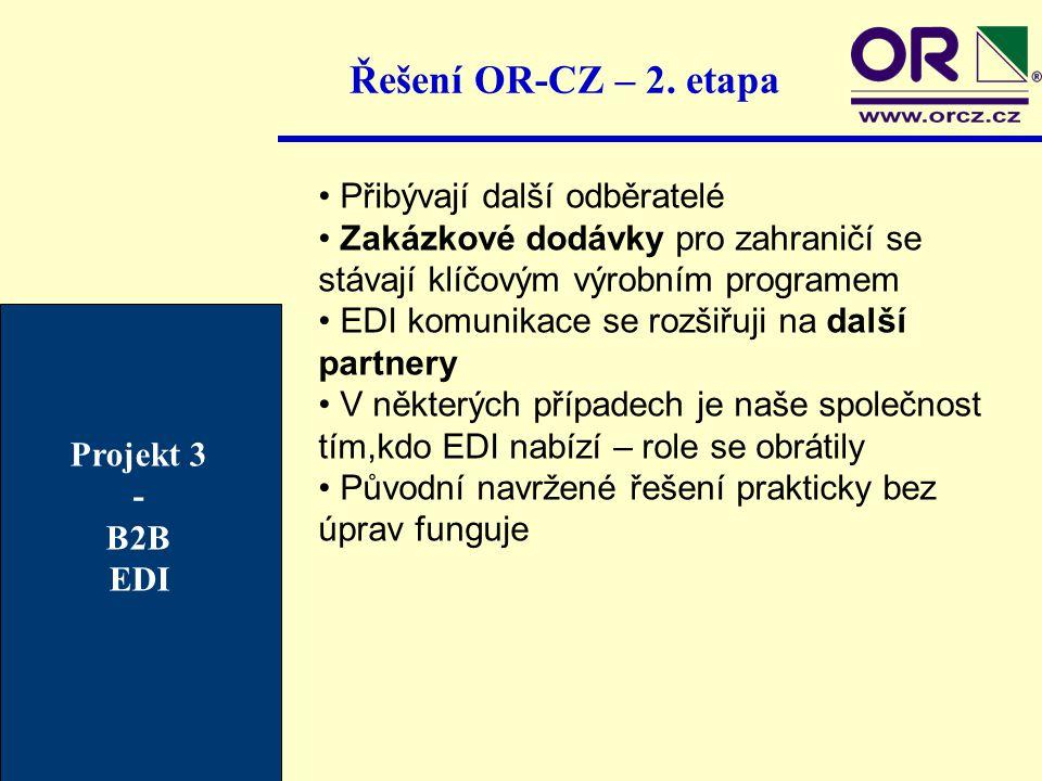 Řešení OR-CZ – 2. etapa Přibývají další odběratelé