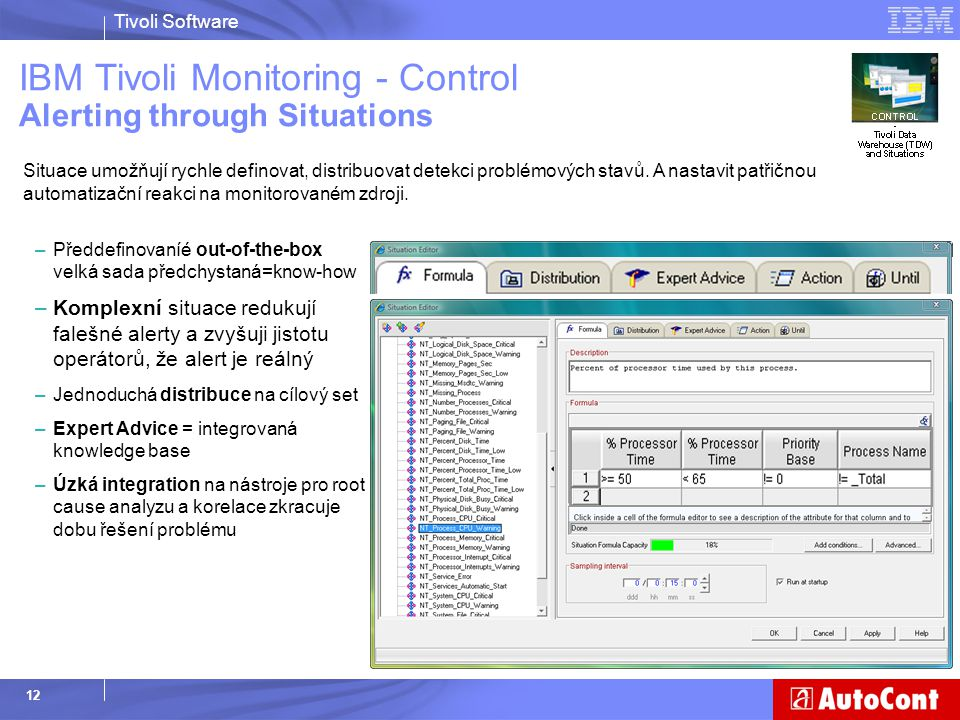 IBM Tivoli Monitoring - Control Alerting through Situations