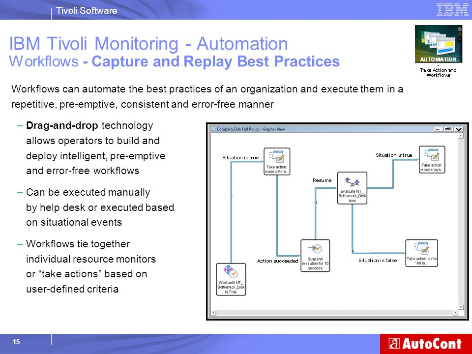 IBM Tivoli Monitoring - Automation Workflows - Capture and Replay Best Practices