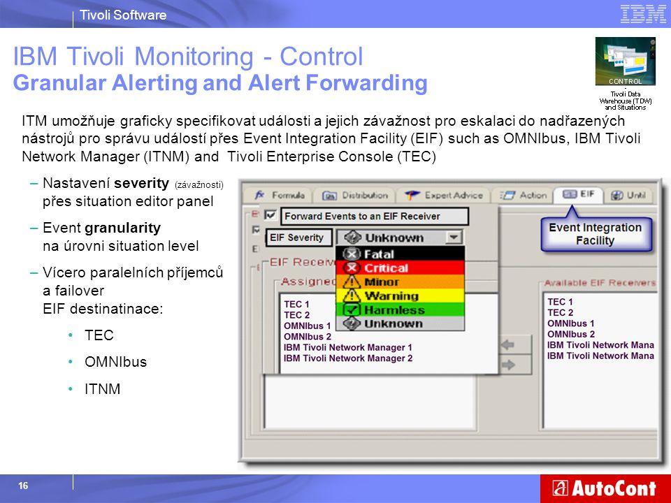 IBM Tivoli Monitoring - Control Granular Alerting and Alert Forwarding