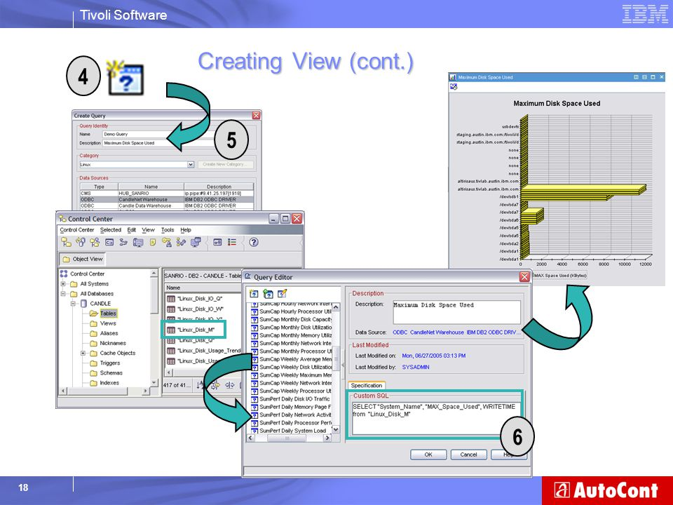 Creating View (cont.) 4 5 6 4. Click on the custom query icon