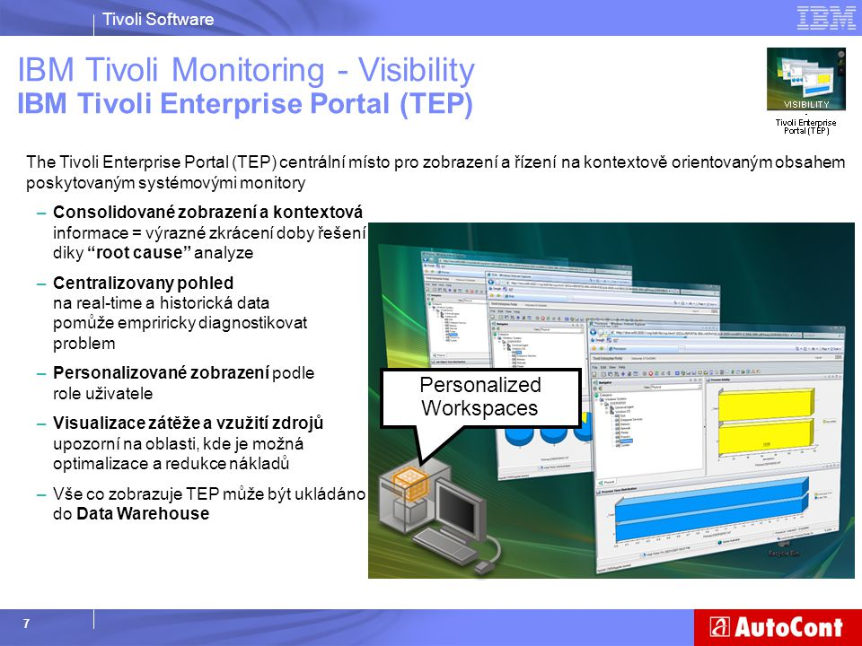 IBM Tivoli Monitoring - Visibility IBM Tivoli Enterprise Portal (TEP)
