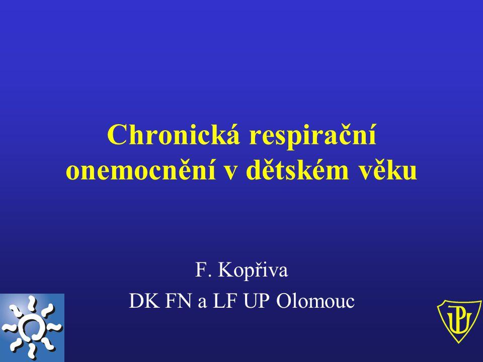 Chronická respirační onemocnění v dětském věku