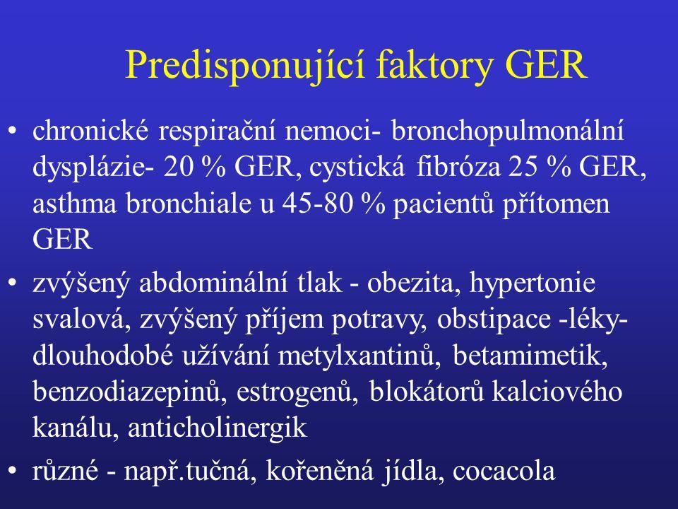 Predisponující faktory GER