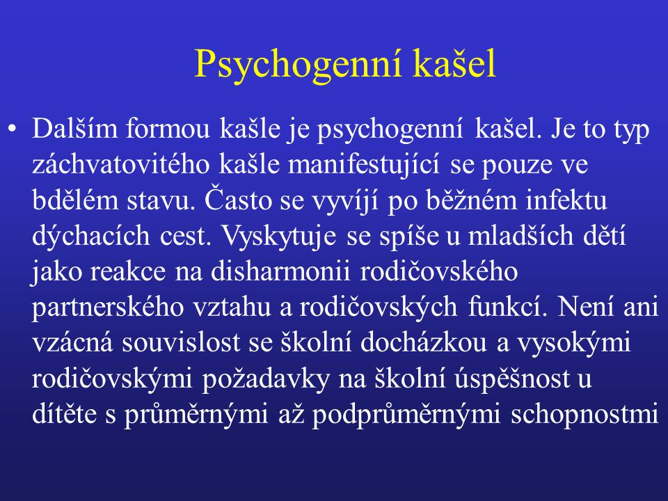 Psychogenní kašel