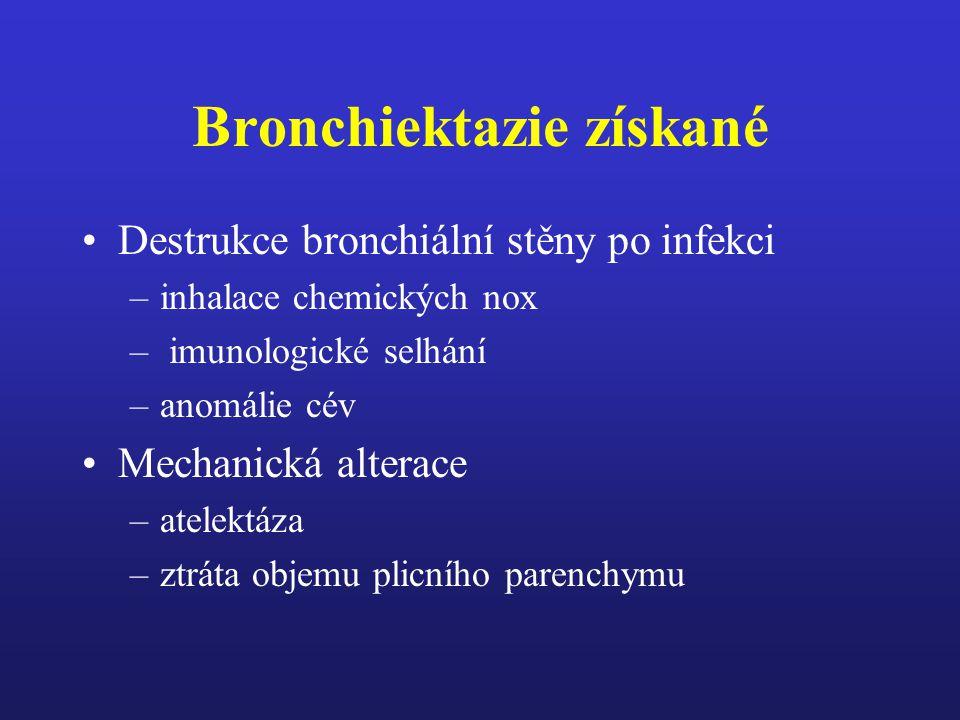 Bronchiektazie získané