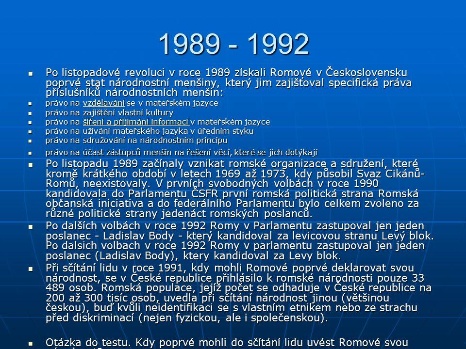 1989 - 1992