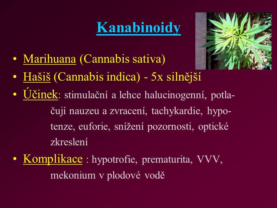 Kanabinoidy Marihuana (Cannabis sativa)