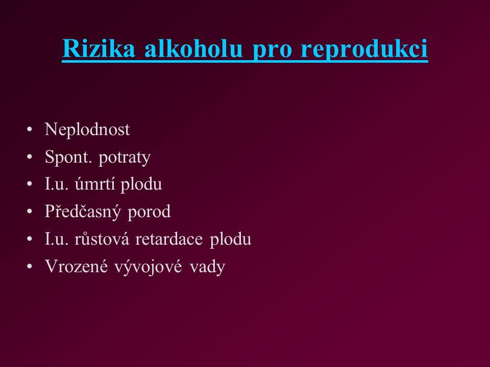 Rizika alkoholu pro reprodukci