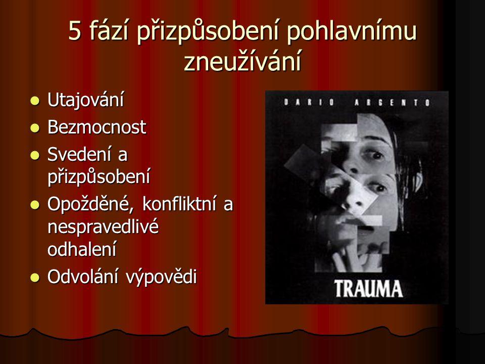 5 fází přizpůsobení pohlavnímu zneužívání