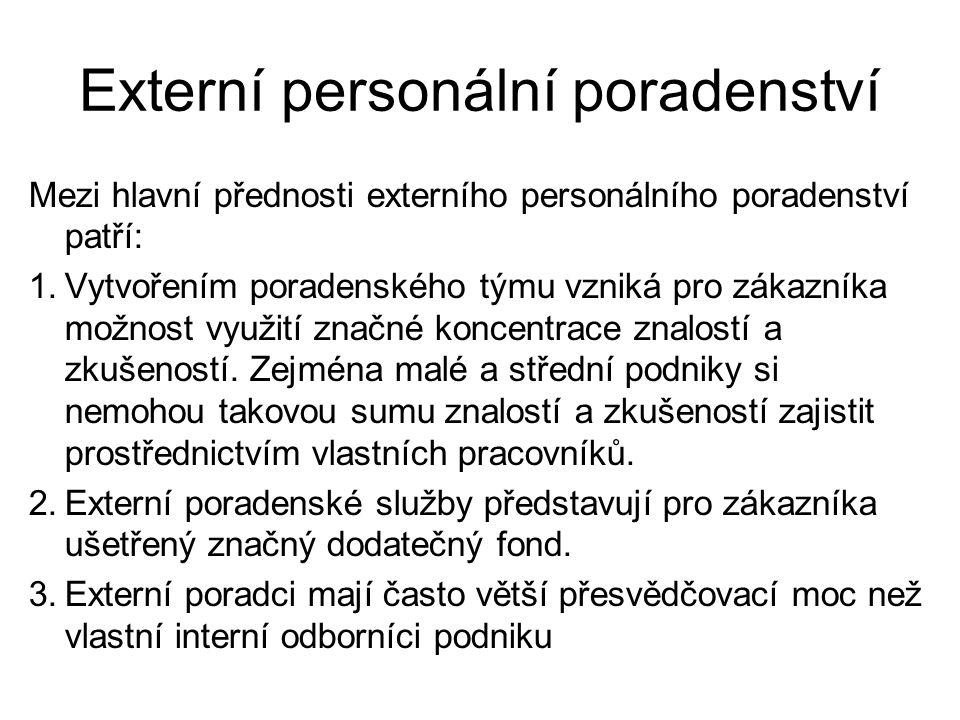 Externí personální poradenství