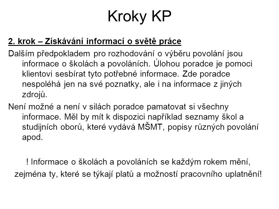 Kroky KP