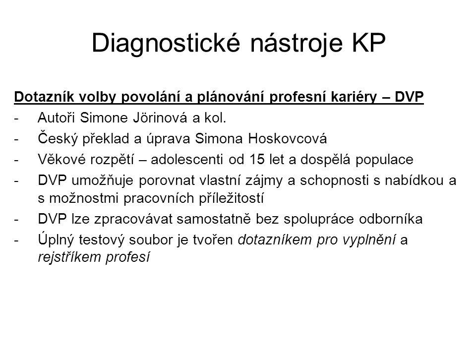 Diagnostické nástroje KP