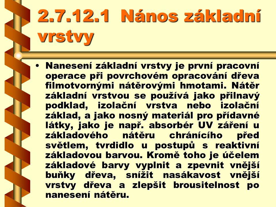 2.7.12.1 Nános základní vrstvy