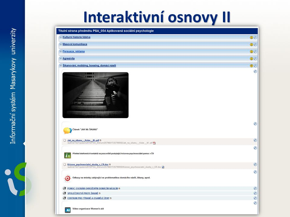 Interaktivní osnovy II